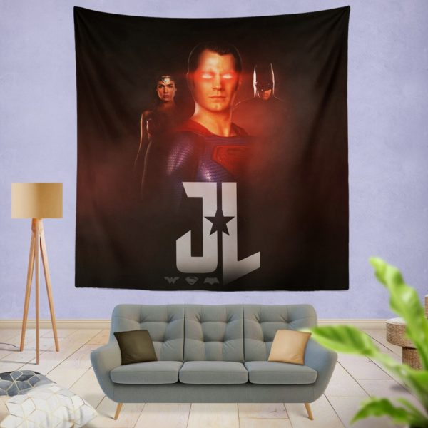Wonder Woman Superman Batman Wall Hanging Tapestry