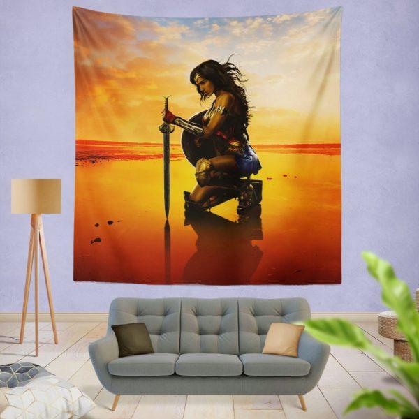 Wonder Women Gal Gadot Wall Hanging Tapestry