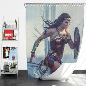 Wonder Women Girls Super Heroine Shower Curtain