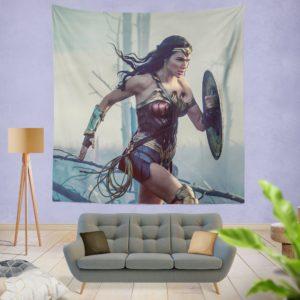 Wonder Women Girls Super Heroine Wall Hanging Tapestry