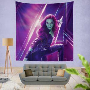Zoe Saldana Gamora Avengers Infinity War Wall Hanging Tapestry