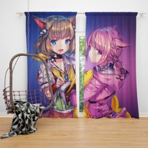 Anime Girl Final Fantasy Bedroom Window Curtain