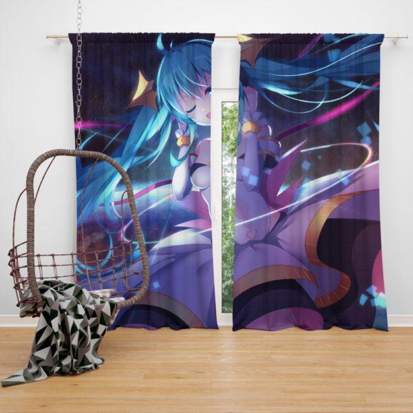 Anime Girl Hatsune Miku Bedroom Window Curtain