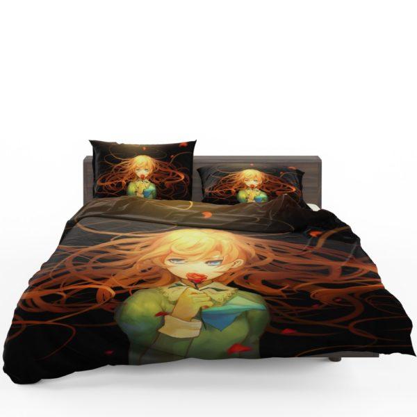 Anime Girl Rose Bedding Set 1