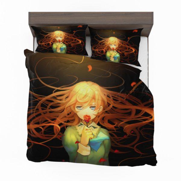 Anime Girl Rose Bedding Set 2