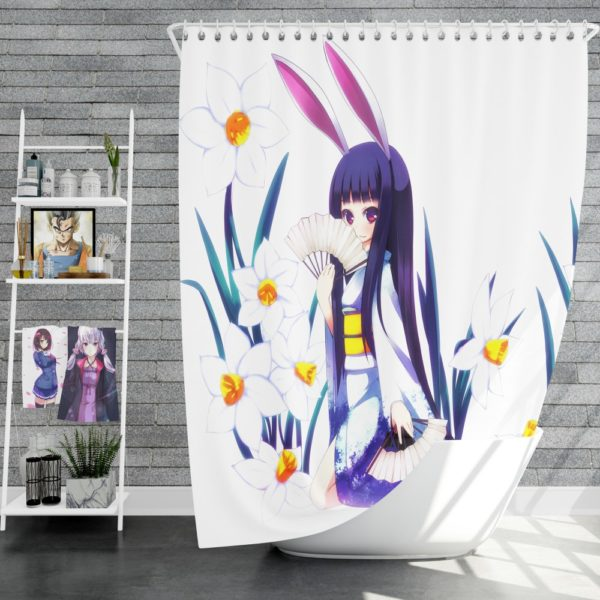 Anime Girl Violet Shower Curtain