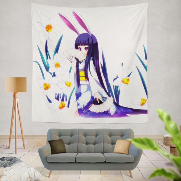 Anime Girl Violet Wall Hanging Tapestry