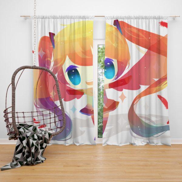 Anime Girl Vocaloid Bedroom Window Curtain