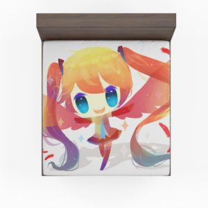 Anime Girl Vocaloid Fitted Sheet