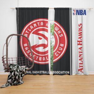 Atlanta Hawks NBA Basketball Bedroom Window Curtain