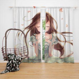 Beautiful Japanese Anime Girl Queen King Bedroom Window Curtain