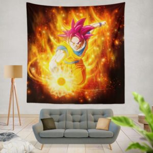 Beautiful Japanese Custom Anime Girl Wall Hanging Tapestry