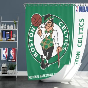 Boston Celtics NBA Basketball Bathroom Shower Curtain