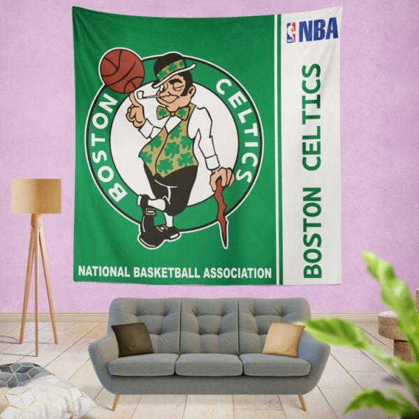 Boston Celtics NBA Basketball Bedroom Wall Hanging Tapestry