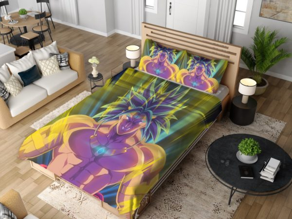 Broly Dragon Ball Japanese Anime Bedding Set 4