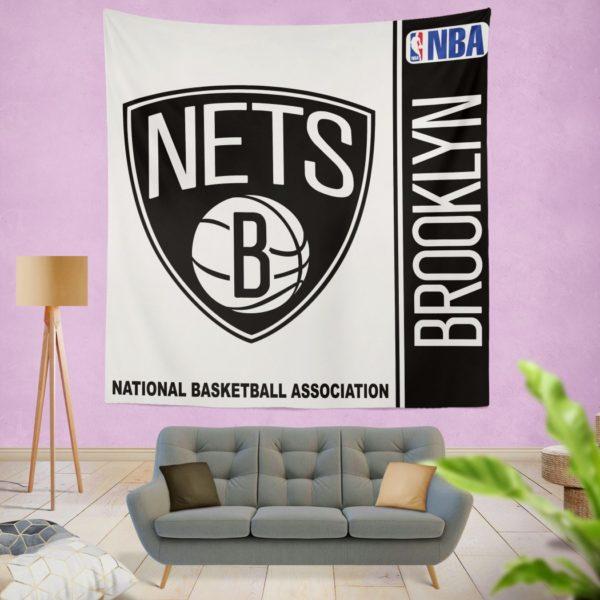 Brooklyn Nets NBA Basketball Bedroom Wall Hanging Tapestry