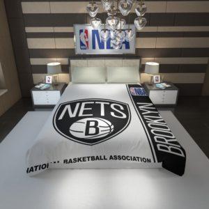 Brooklyn Nets NBA Basketball Duvet Cover 1