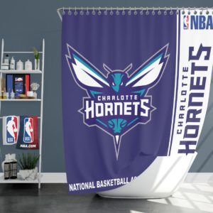 Charlotte Hornets NBA Basketball Bathroom Shower Curtain