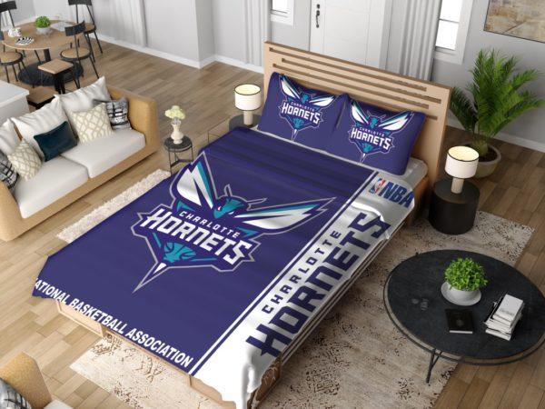 Charlotte Hornets NBA Basketball Bedding Set 4