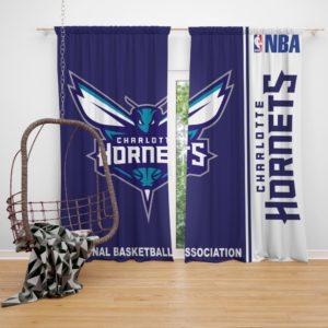 Charlotte Hornets NBA Basketball Bedroom Window Curtain