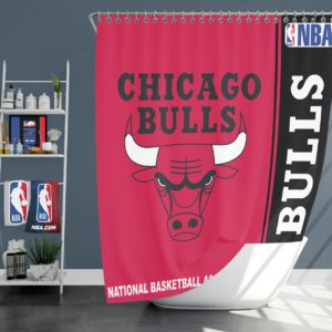 Chicago Bulls NBA Basketball Bathroom Shower Curtain