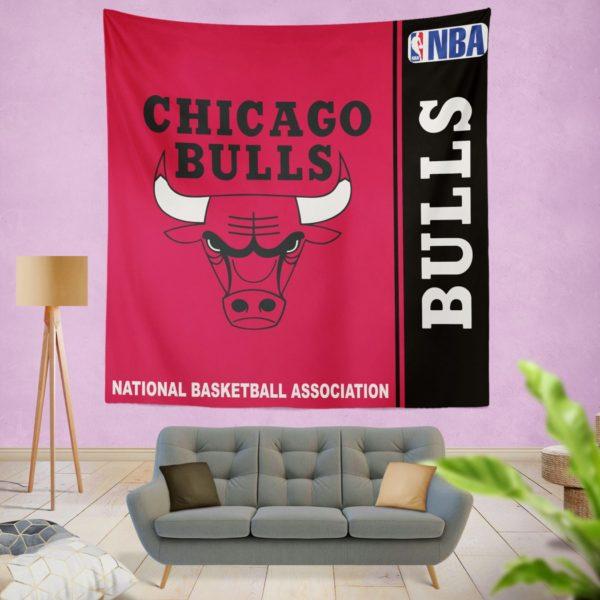 Chicago Bulls NBA Basketball Bedroom Wall Hanging Tapestry