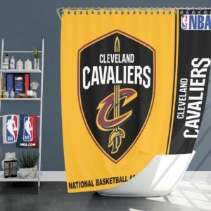 Cleveland Cavaliers NBA Basketball Bathroom Shower Curtain