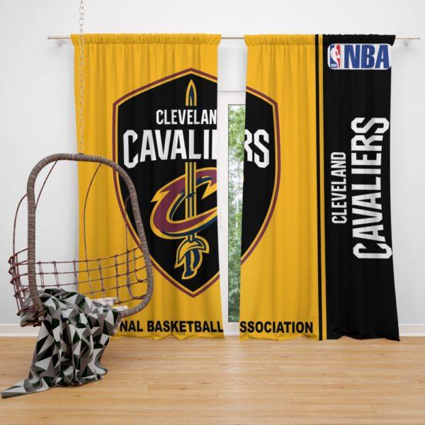 Cleveland Cavaliers NBA Basketball Bedroom Window Curtain