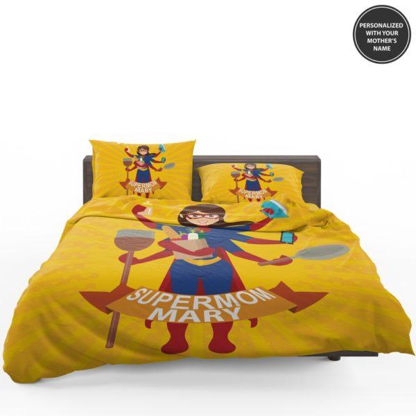Custom Print Super Mom Personalized Bedding Set 1