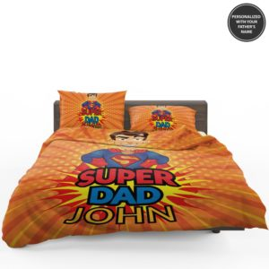 Custom Super Dad Personalized Bedding Set 1