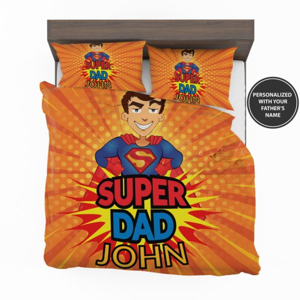 Custom Super Dad Personalized Bedding Set 2