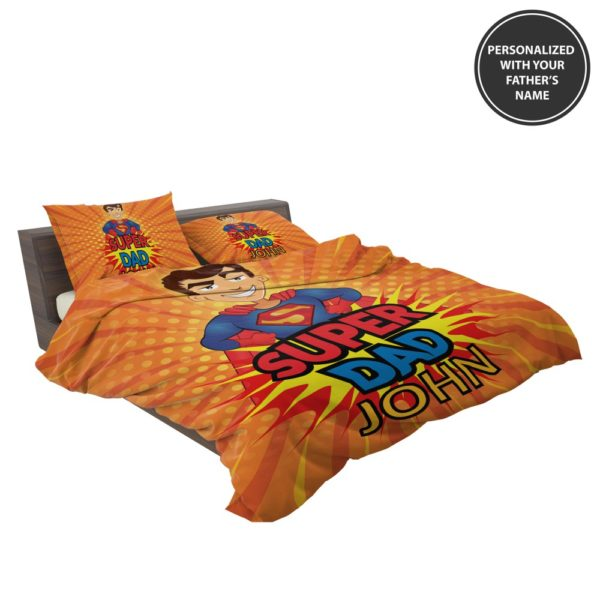 Custom Super Dad Personalized Bedding Set 3