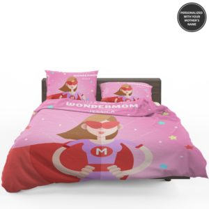 Custom Super Heroine Wonder Mom Personalized Bedding Set 1