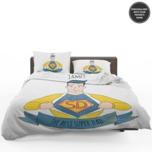 Custom The Best Super Dad Personalized Bedding Set 1