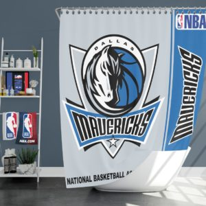 Dallas Mavericks NBA Basketball Bathroom Shower Curtain