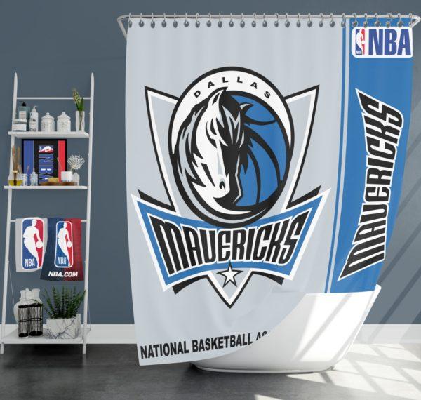 Dallas Mavericks NBA Basketball Bathroom Shower Curtain