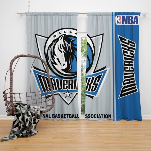 Dallas Mavericks NBA Basketball Bedroom Window Curtain