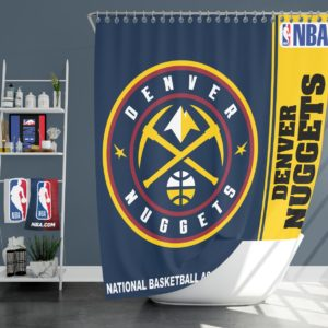 Denver Nuggets NBA Basketball Bathroom Shower Curtain