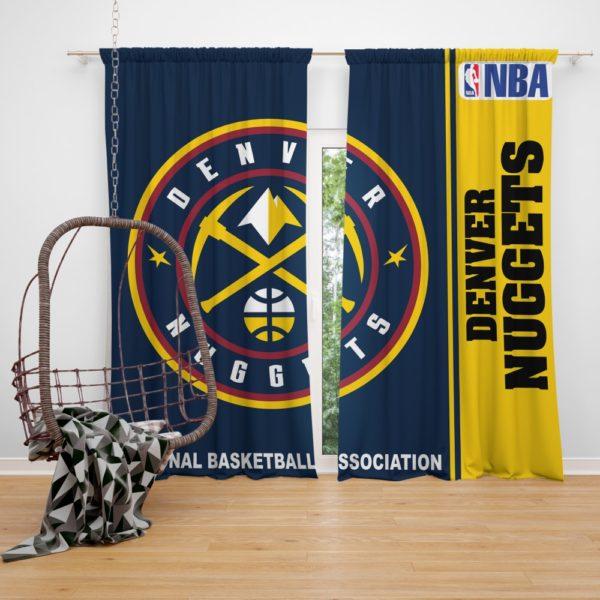 Denver Nuggets NBA Basketball Bedroom Window Curtain