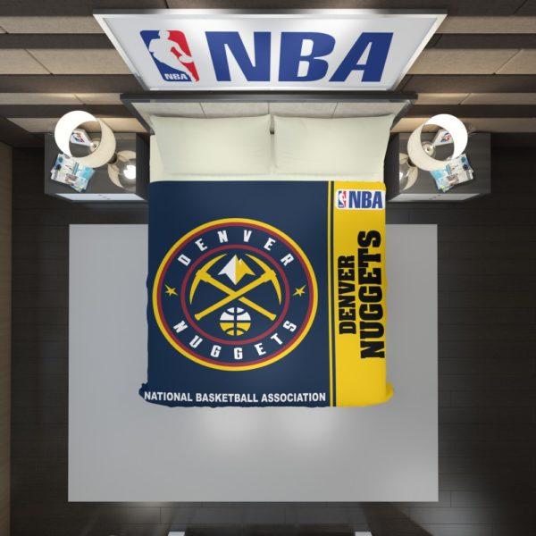 Denver Nuggets NBA Basketball Duvet Cover 2