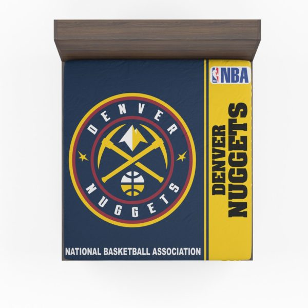 Denver Nuggets NBA Basketball Fitted Sheet
