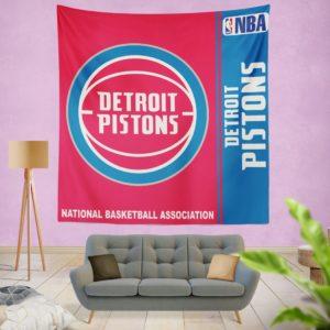 Detroit Pistons NBA Basketball Bedroom Wall Hanging Tapestry