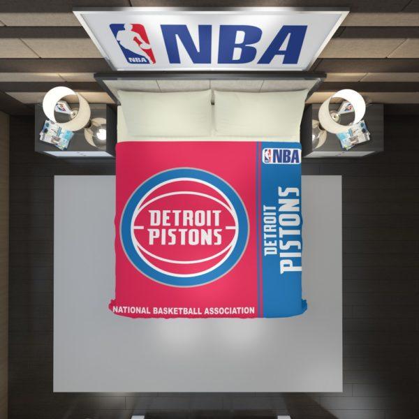 Detroit Pistons NBA Basketball Duvet Cover 2