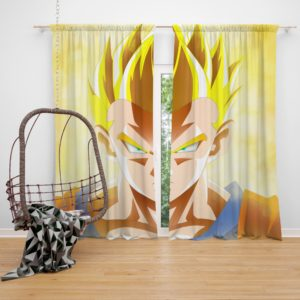 Dragon Ball Super Son Goku Anime Boy Bedroom Window Curtain