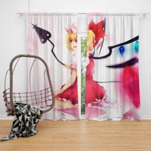 Flandre Scarlet Anime Girl Vampire Bedroom Window Curtain