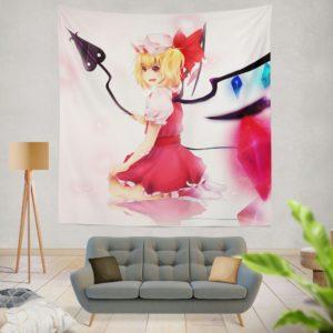 Flandre Scarlet Anime Girl Vampire Wall Hanging Tapestry