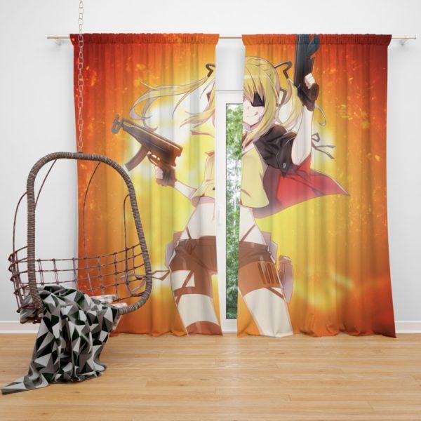 Girls Frontline Nuclear Guns Anime Bedroom Window Curtain