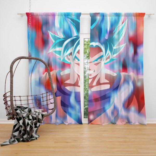Goku Anime Boy Bedroom Window Curtain