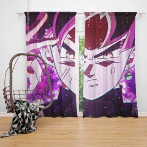 Goku Black Super Saiyan Rose Bedroom Window Curtain