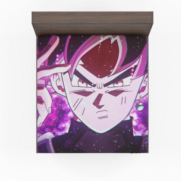 Goku Black Super Saiyan Rose Fitted Sheet